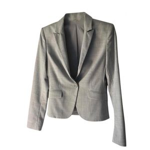 Express Design Studio Gray Career Blazer